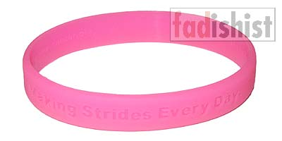 'Making Strides' Breast Cancer Pink Wristband/Bracelet