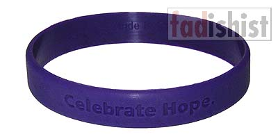 'Celebrate Hope.' Purple Cancer Wristband/Bracelet