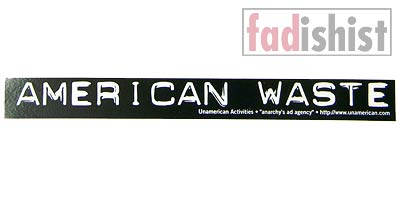 'American Waste' Sticker