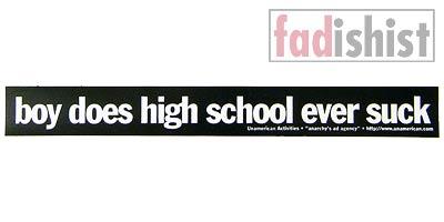 'Boy Does High School Suck' Sticker