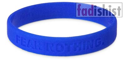 'Fear Nothing' Cancer Blue Wristband/Bracelet