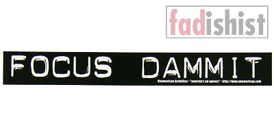 'Focus Dammit' Sticker