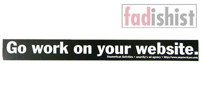 'Go Work on your Website' Sticker