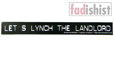 'Let's Lynch the Landlord' Sticker