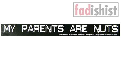 'My Parents Are Nuts' Sticker