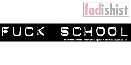 'Fuck School' Sticker