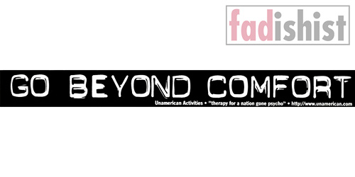 'Go Beyond Comfort' Sticker