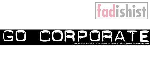 'Go Corporate' Sticker