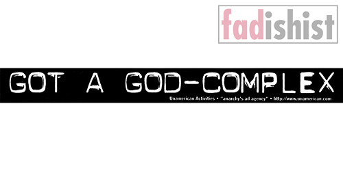 'Got A God-Complex' Sticker