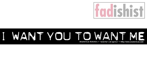 'I Want You To Want Me' Sticker