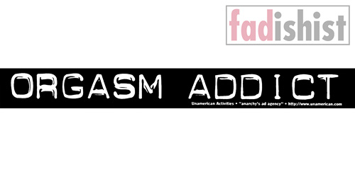 'Orgasm Addict' Sticker