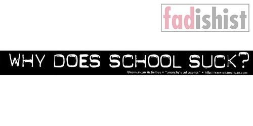 'Why Does School Suck?' Sticker