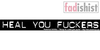 'Heal You Fuckers' Sticker