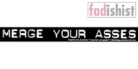 'Merge Your Asses' Sticker