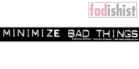'Minimize Bad Things' Sticker
