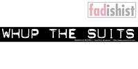 'Whup The Suits' Sticker