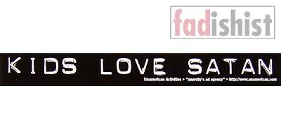 'Kids Love Satan' Sticker