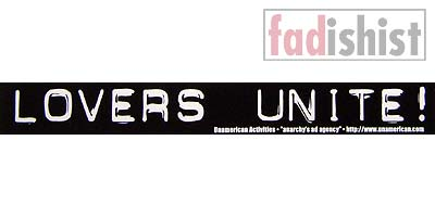 'Lovers Unite!' Sticker