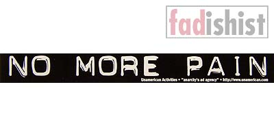 'No More Pain' Sticker