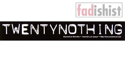 'Twentynothing' Sticker