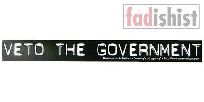 'Veto The Government' Sticker